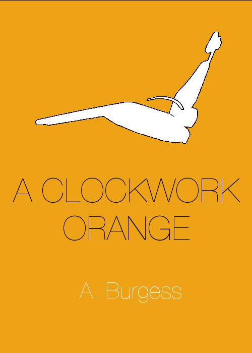 minimalist, book cover, clockwork orange
