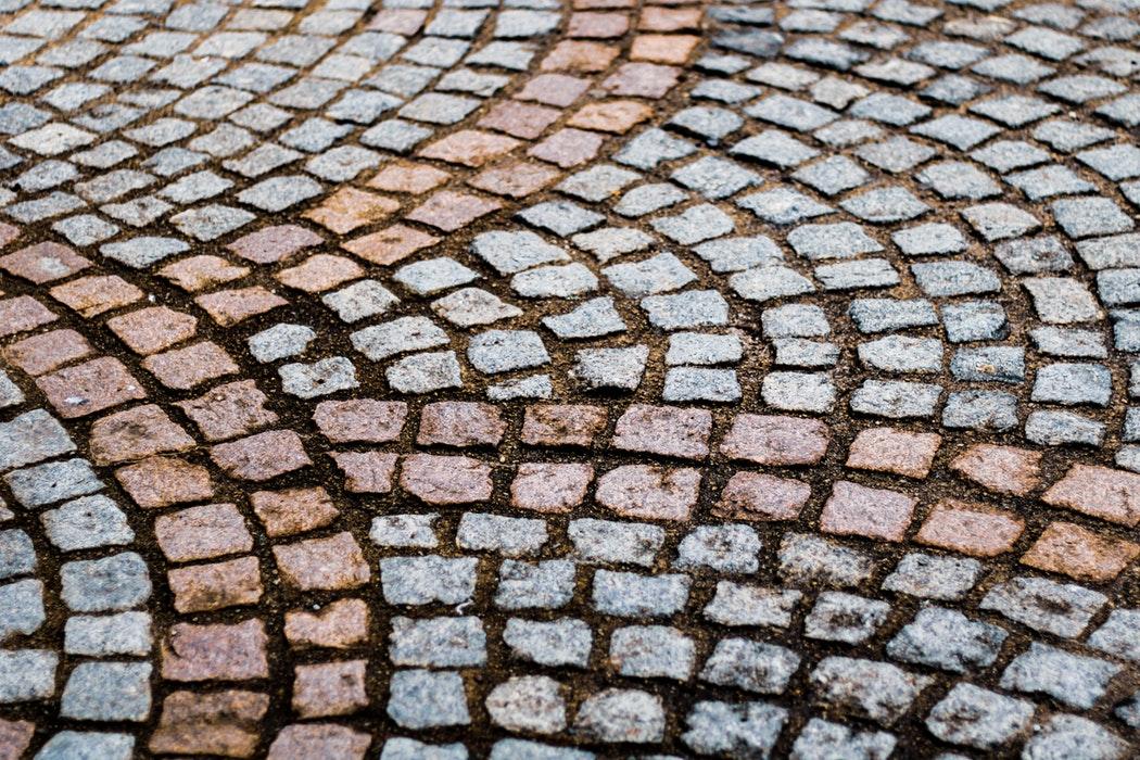 Cobblestone walk in France